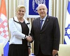 President Grabar-Kitarović with Israeli President Reuven Rivlin