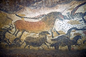 English: Reproductions of some Lascaux artwork...