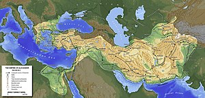 An example of a map created with GMT, illustra...