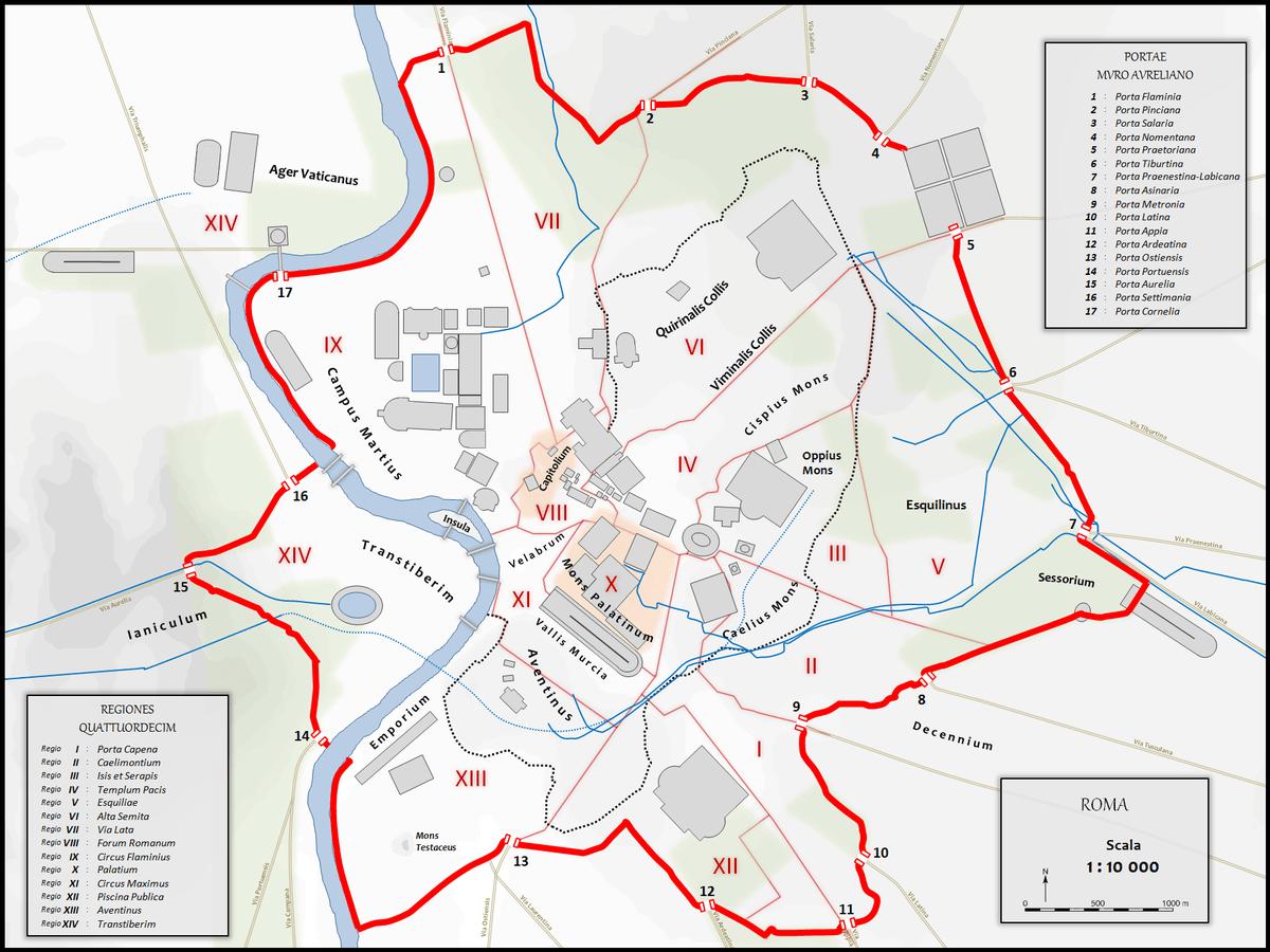 Aurelianische Mauer  Wikipedia