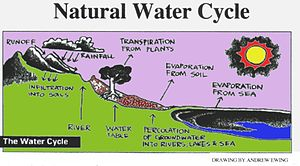English: Diagram of natural water cycle.