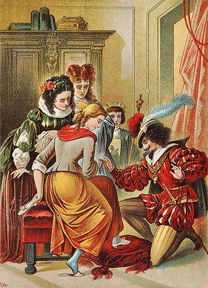 Cinderella, illustration by Carl Offterdinger
