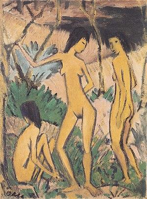 Otto Mueller - Drei Akte in Landschaft - ca1919