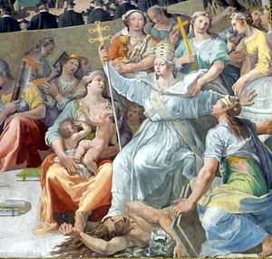 English: Council of Trent, detail: Allegory of...