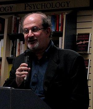 """Salman Rushdie presenting his book """"Shali..."""