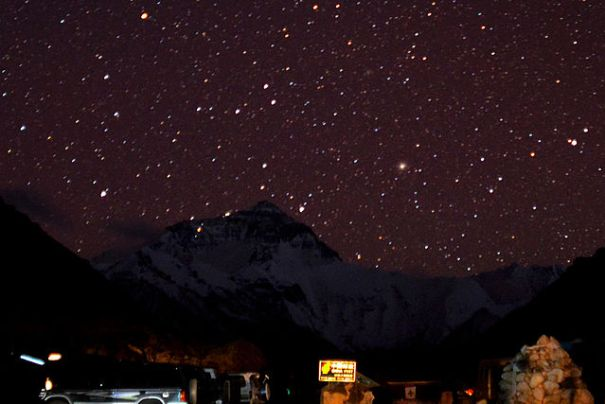 Starry Night at Mount Everest - photo by Matt Wier - http://bit.ly/u4halG
