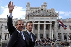 President Tabaré Vázquez with Vice President Rodolfo Nin Novoa