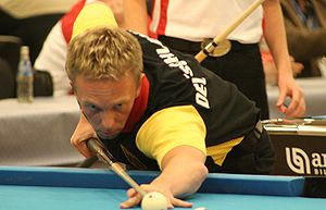 German pool player Thorsten Hohmann at the Eur...