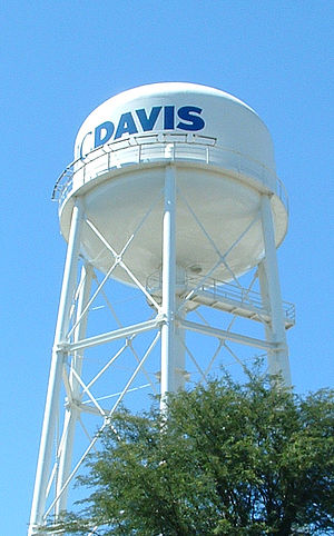 UC Davis Water tower, cropped with photoshop