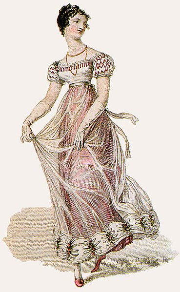 19th Century Ballgown, Wikimedia Commons