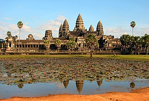 Angkor Wat, the front side of the main complex...