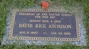 David Rice Atchison's tombstone.