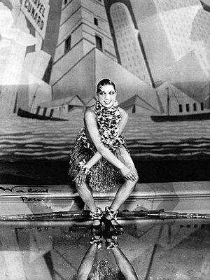 Josephine Baker dancing the Charleston at the ...