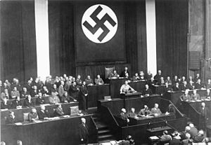 Hitler's Reichstag speech promoting the bill
