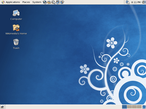 Screenshot of the default CentOS 5.3 configuration