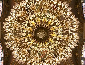 Underside Of A Chandelier Valencia Town Hall