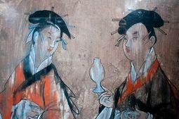 7fe62e8822e8b اليسار  أرواح وصي حيواني ليلا ونهارا ترتدي الجلباب الصينية، سلالة هان لوحات  على السيراميك قرميدة. مايكل لوي يكتب أن هجين من الرجل والوحش في الفن  والمعتقدات ...