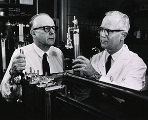 Dr. Mark Woods (right) and M. Dean Burk (left).
