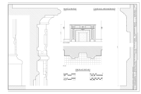 File:Fireplace Details, Mantel Profile and Chair Rail and ...