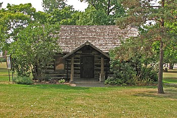 Geneseo log cabin