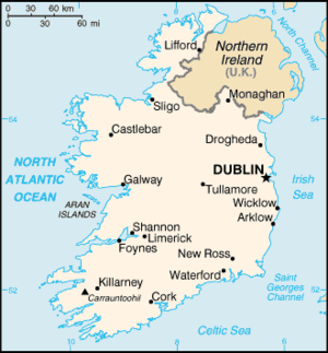 An enlargeable basic map of Ireland