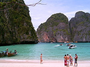 The Beach of Koh Phi Phi Leh in southern Thailand.