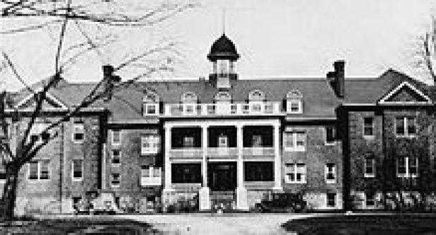Exterior view of Mohawk Institute Residential School