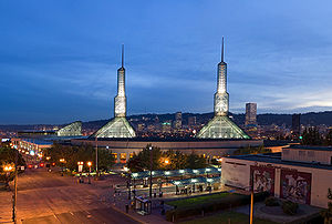 The Oregon Convention Center in Portland, Oreg...