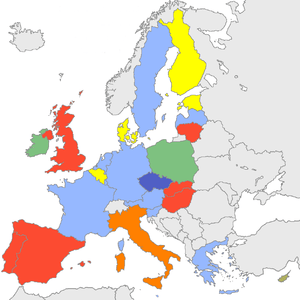 Party affiliations in the Council of the EU Oc...
