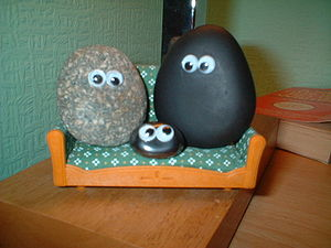 English: Image of a pet rock