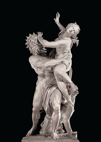 English: The Rape of Proserpina sculpture by B...