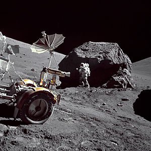 English: Geologist-Astronaut Harrison H. Schmi...