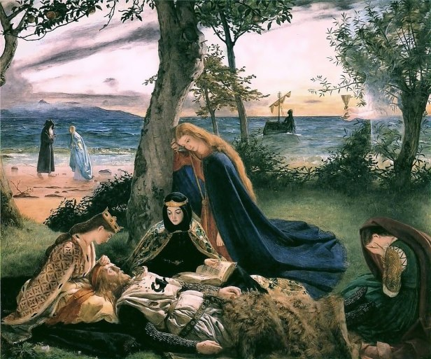 """The Death of King Arthur"" by James Archer"