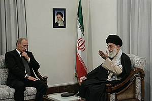 TEHRAN. With Ayatollah Sayed Ali Khamenei.