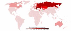World Eastern Orthodox population (%)