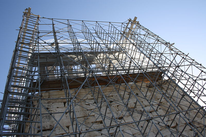 File:2503 - Athens - Temple of Athena Nike being restored - Photo by Giovanni Dall'Orto, Nov 11 2009.jpg