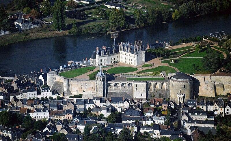 Amboise castle, aerial view