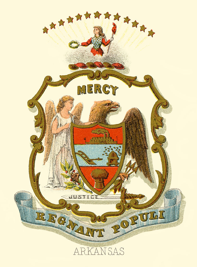 FileArkansas state coat of arms illustrated 1876jpg