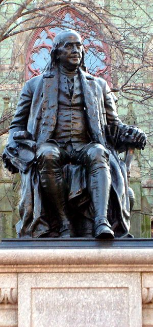 Cropping of :Image:Benjamin Franklin statue in...