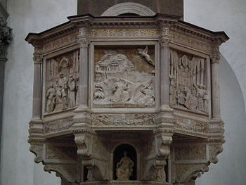 Pulpit, Basilica of Santa Croce, Florence, Italy.