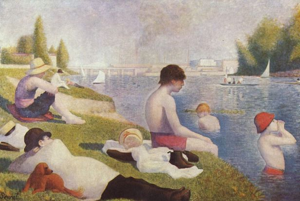 """Bathers at Asnières"" by Georges Seurat"