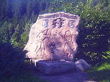 Hansjakobstein am kleinen Hansjakobweg auf dem Schwarzenbruch