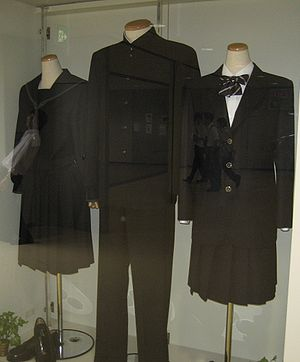Museum exhibit of the uniforms of the Ichikawa...