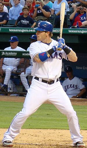 English: Josh Hamilton, Texas Rangers outfielder.