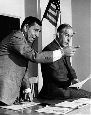 Photo of Jack Webb and Harry Morgan from the t...