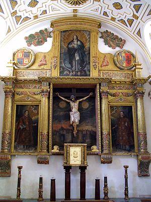 English: Retablo de la Capilla del Santo Crist...