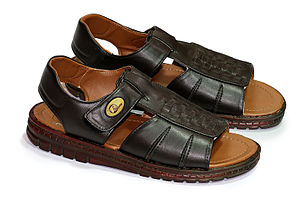 A pair of size 10 sandals for men