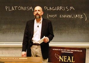 English: U.S. novelist Neal Stephenson discuss...