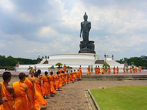 Theravada Buddhism is highly respected in Thailand
