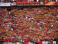 Adeptos portugueses apoiam a  Selecção Portuguesa de Futebol